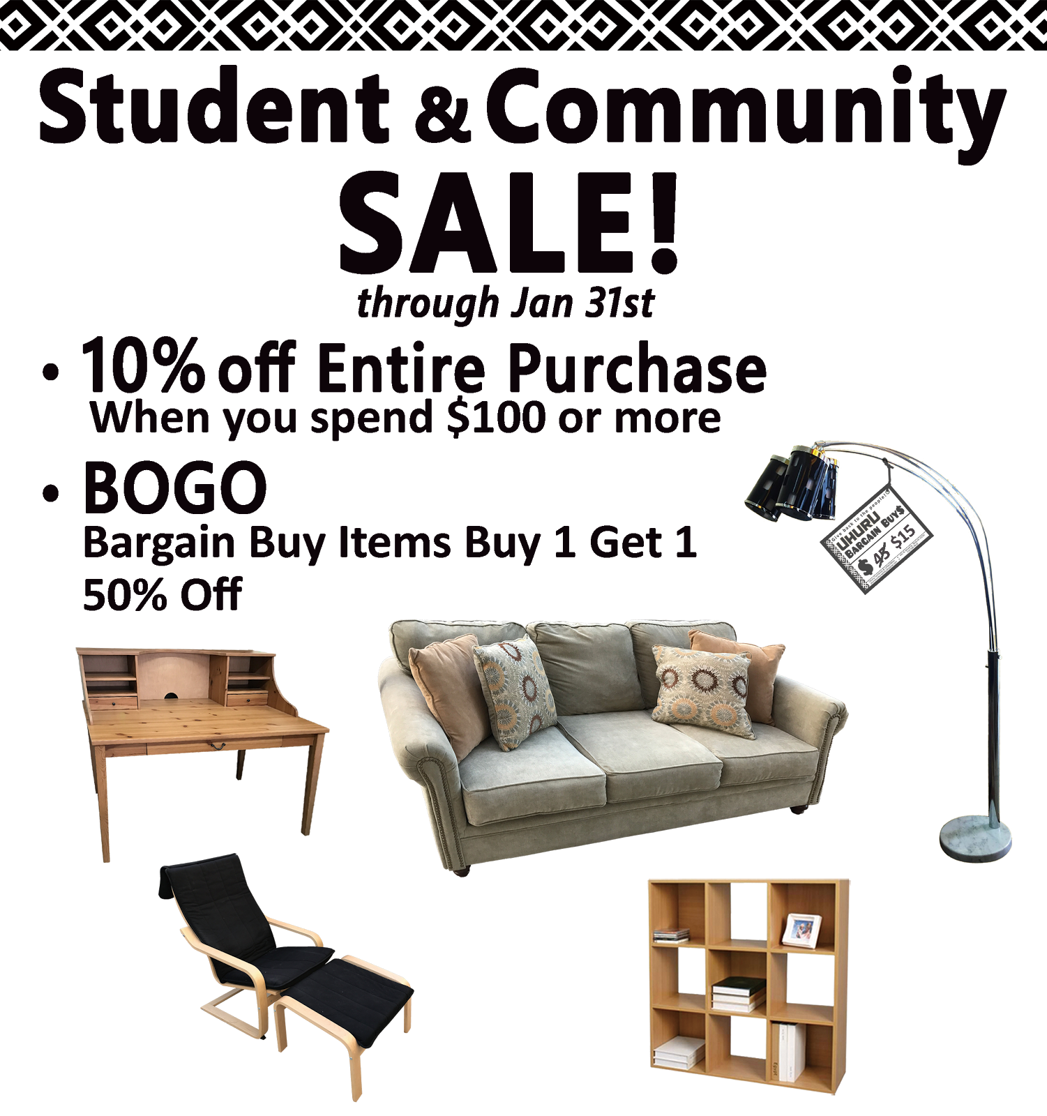Student & Community Sale!