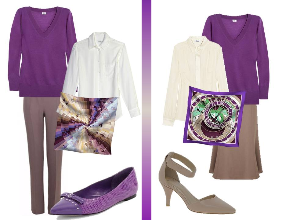 What To Wear With A Purple Blouse 105