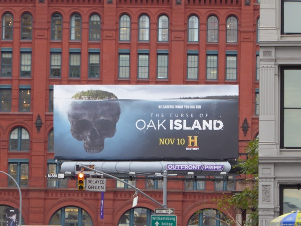 Curse of Oak Island season 3 billboard NYC