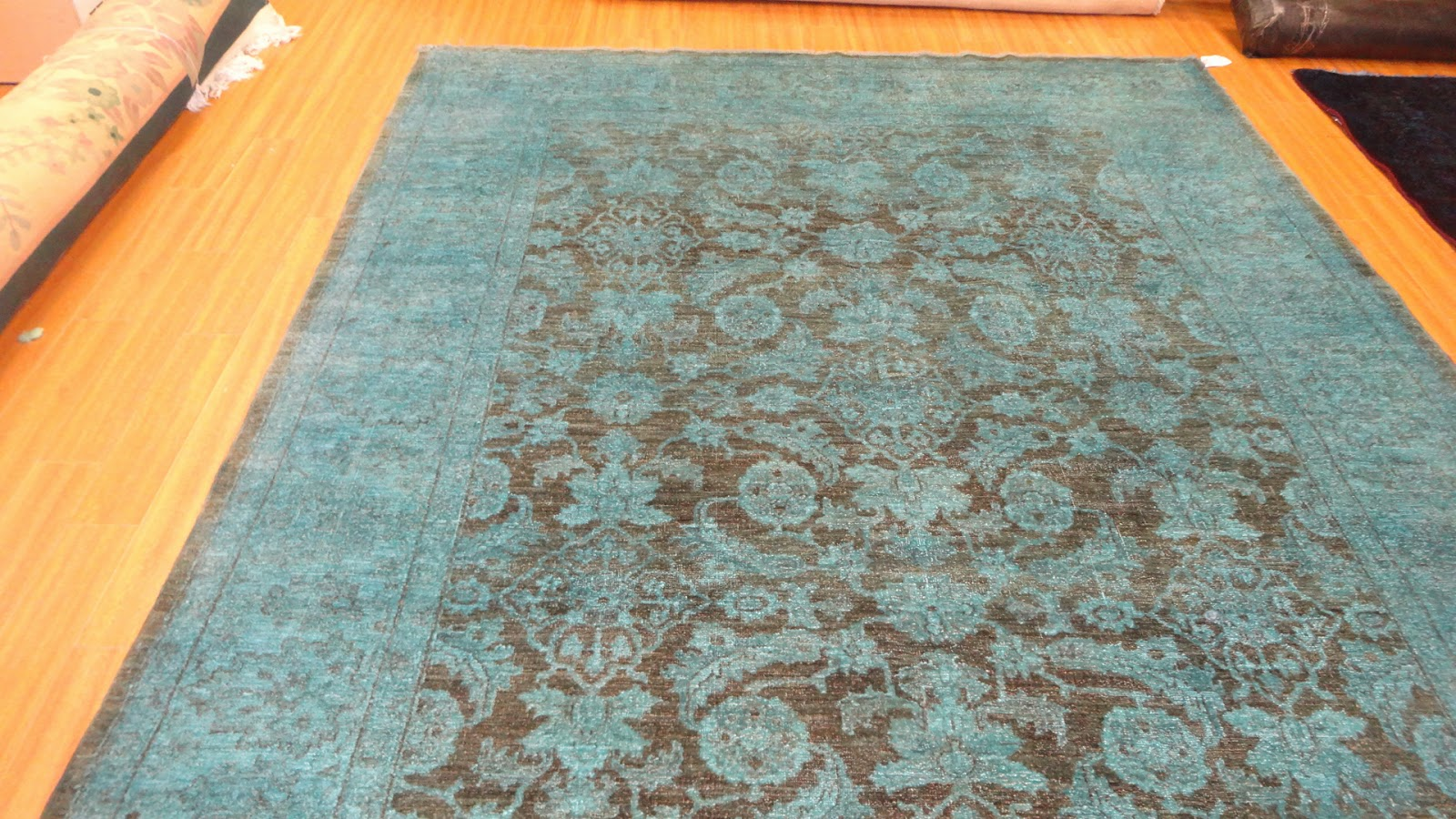 Turquoise Brown Rug Home Decor