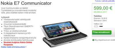 Nokia E7 Communicator Pre-orders available in Finland and Sweden 1