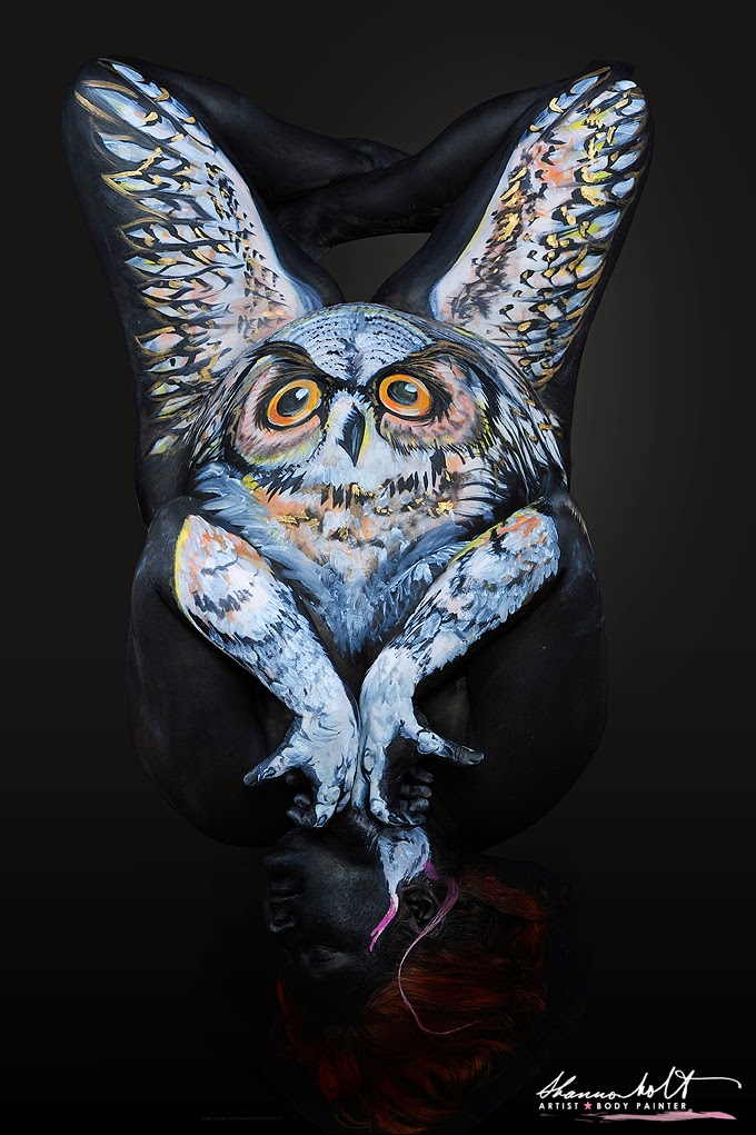 06-Great-Horned-Owl-Shannon-Holt-Florida-Wildlife-Series-Bodypainting-www-designstack-co