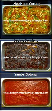 Antara Menu Pilihan Utk Mini Catering..