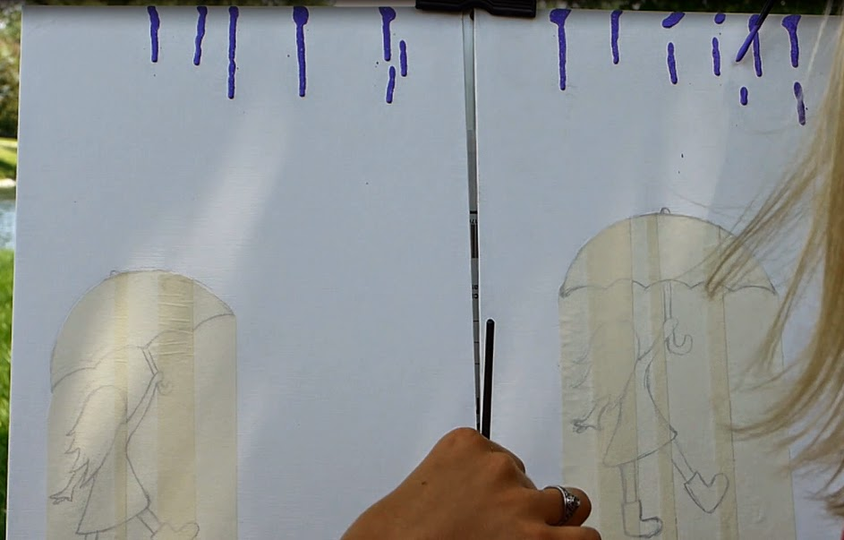 how to make paint drip down canvas