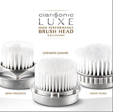 Clarisonic LUXE brush head, facial brush, soft facial brush