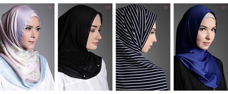 model hijab selendang