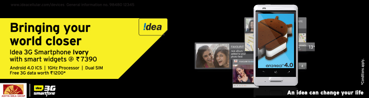 Idea Ivory dual SIM smart phone launches for Rs. 7,390