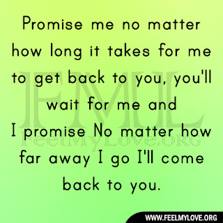 Promise me no matter how long it takes for me