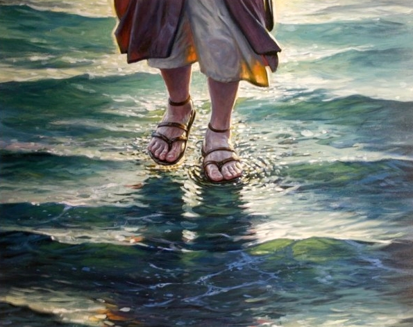 Walking on water - Artist unknown