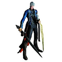 This is a Vergil action figure, holding Yamato and standing tall