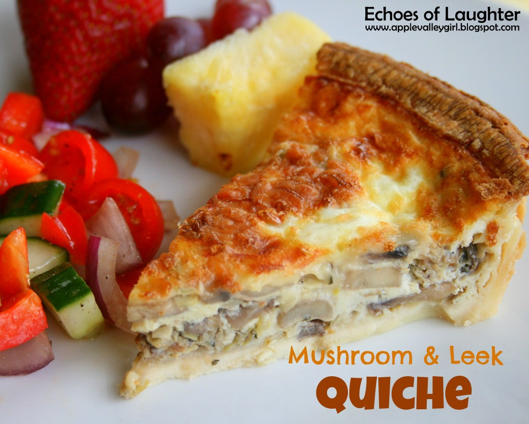Echoes of Laughter: Delicious Mushroom & Leek Quiche