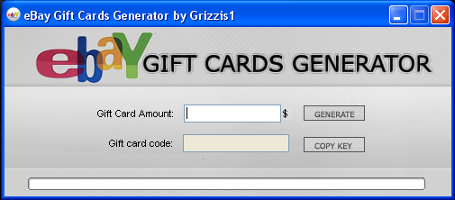 Since the beginning, we have been the best online generator. With a large collection of eBay Gift Cards, we generate hundreds of codes every day and strive to provide the best service to our visitors. How to use eBay Gift Card Generator. Select the desired value by pressing the card you want and it will be generated in less than a minute.