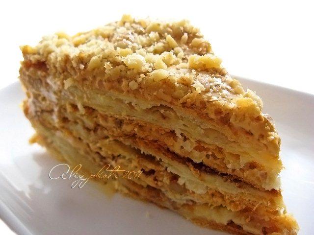 Торт наполеон на сметане рецепт с фото
