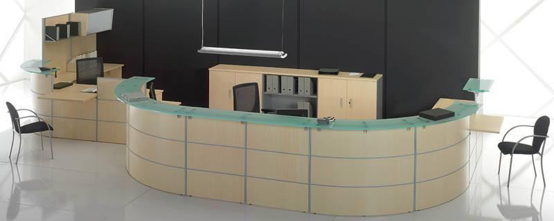 Oficina total mostradores de recepci n para empresas y for Diseno de muebles de oficina modernos