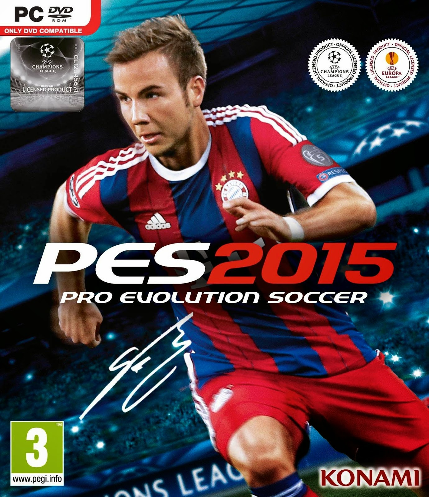 Pro Evolution Soccer (PES) 2015 Cover Game Image