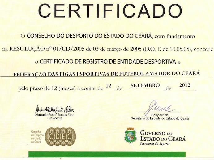CERTIFICADO Nº 088/ 2012