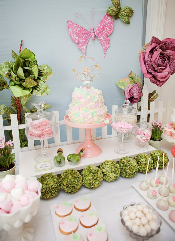 Kara's Party Ideas Fairy Garden 3rd Birthday Butterfly ...