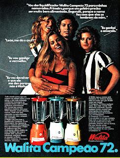 propaganda  Walita anos 70. . propaganda década de 70. Oswaldo Hernandez. anos 70. Reclame anos 70