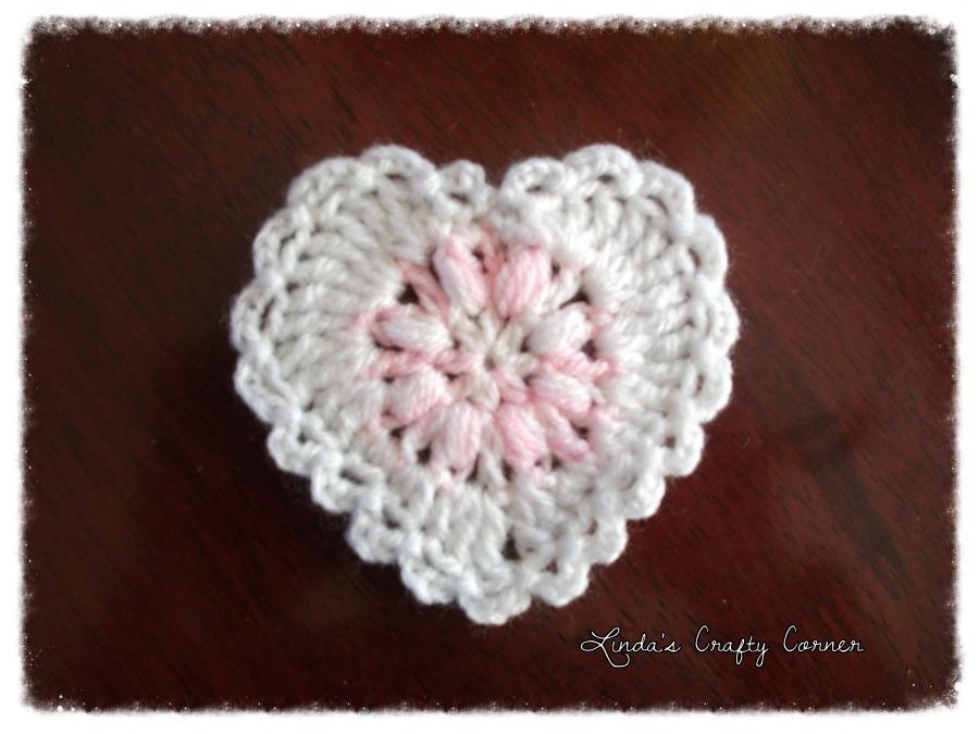 Valentine s Day Crochet Patterns : .Lindas Crafty Corner: Sweet Lacy Hearts