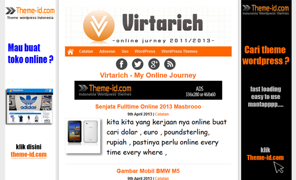Download Template Virtarich Theme