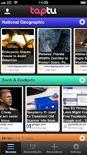 Google Reader alternatives - Taptu
