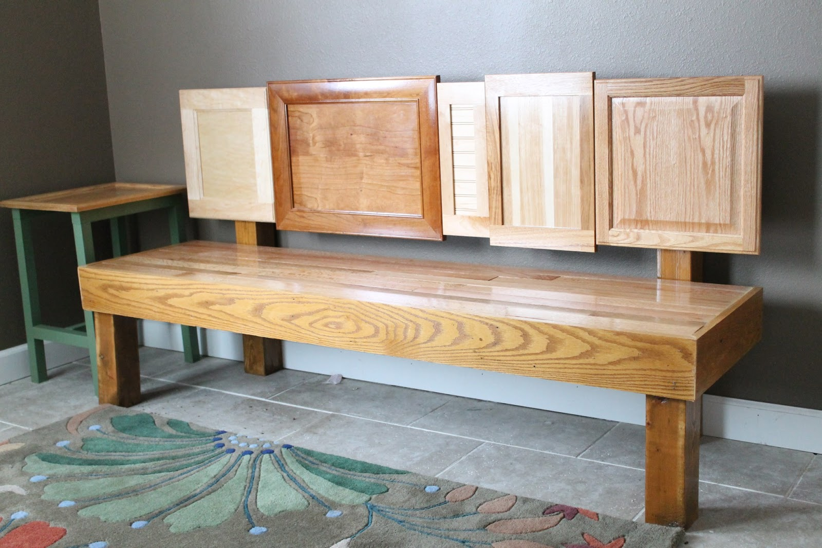 & DIY Cabinet Door Bench u2013 Do Small Things with Great Love