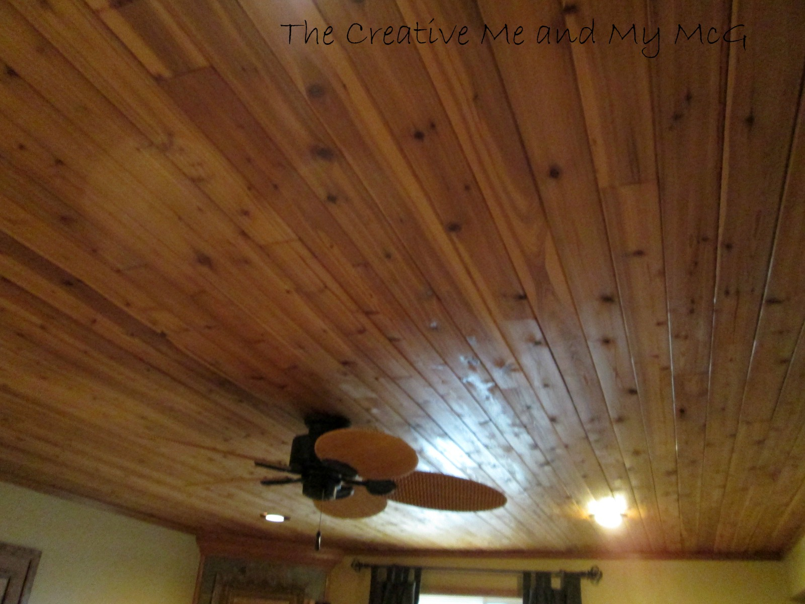the creative me and my mcg  planked ceilings and family