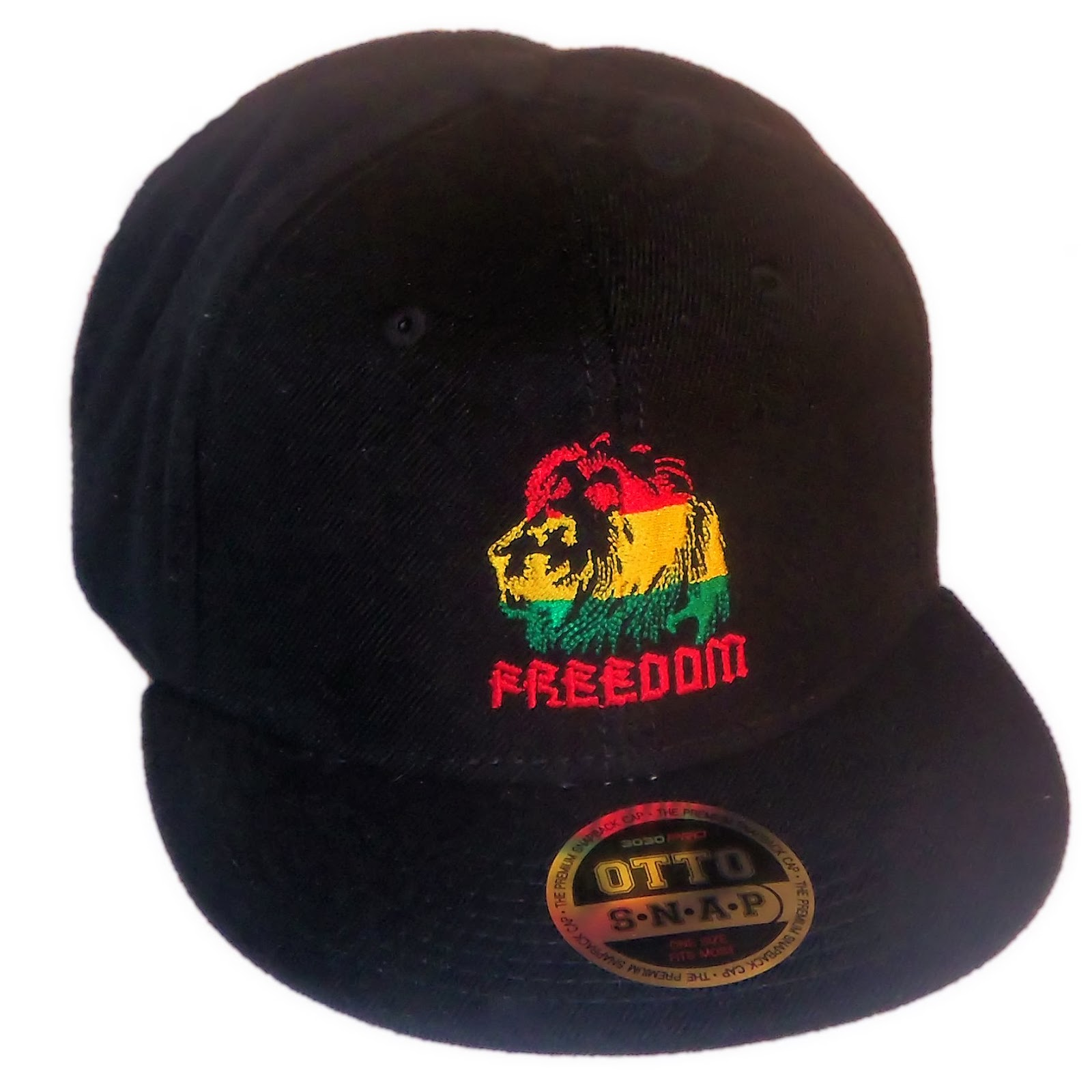 Freedom Rasta Flat Bill Snapback Cap From Edge SST