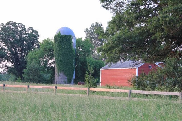 neighbor's red barn