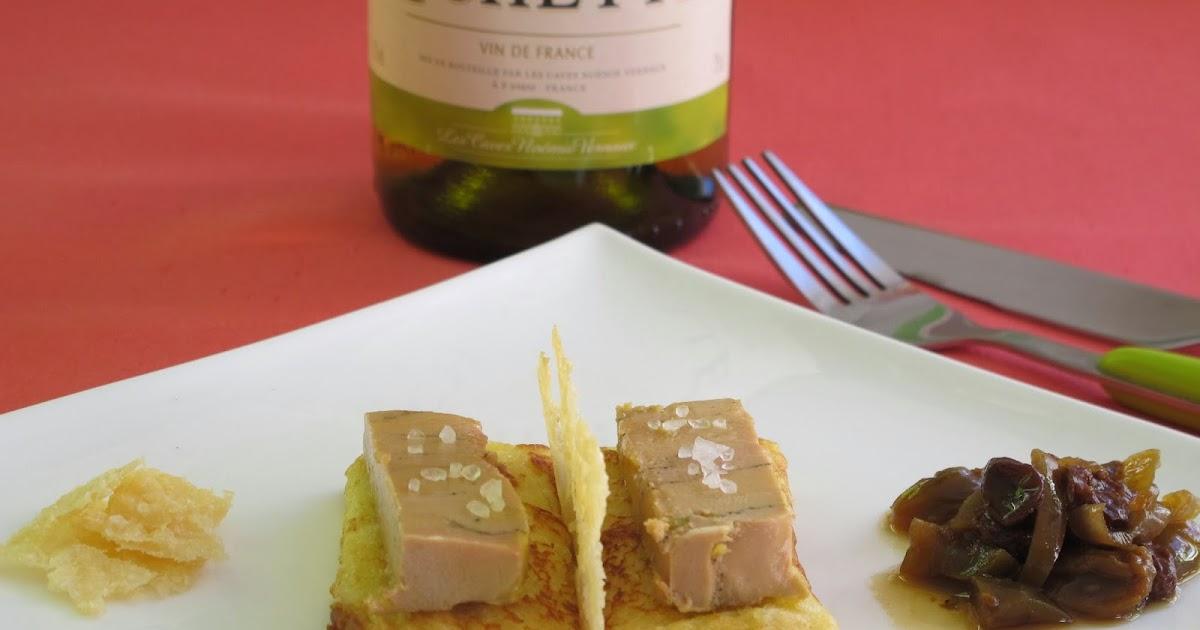 elo la bouche foie gras mi cuit sur son pain perdu au vin blanc accompagn de chips de. Black Bedroom Furniture Sets. Home Design Ideas