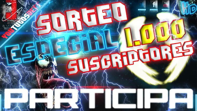 SORTEO ESPECIAL 1.000 SUSCRIPTORES - CERRADO | 2015