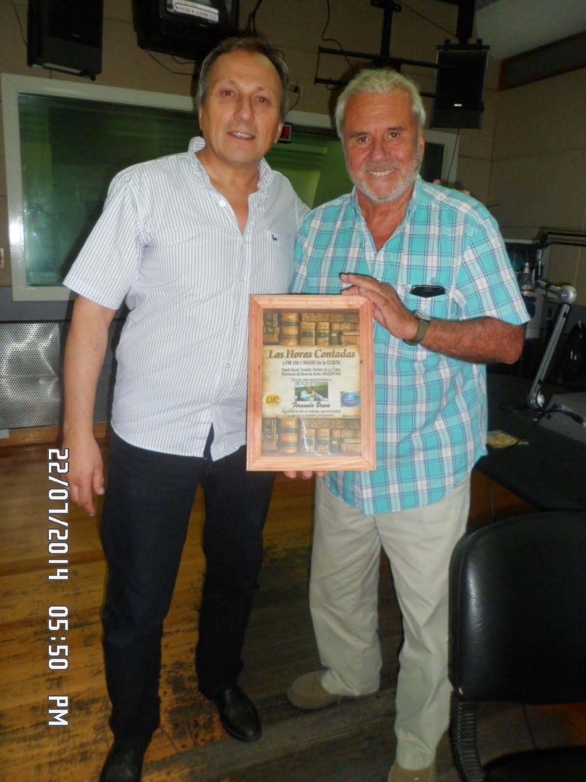 ESTUVIMOS JUNTO A FERNANDO BRAVO EN RADIO CONTINENTAL-ARGENTINA