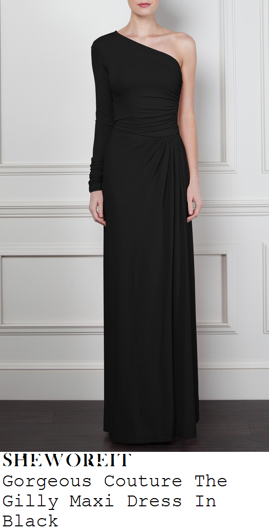 jessica-wright-black-one-shoulder-long-sleeve-maxi-dress-towie