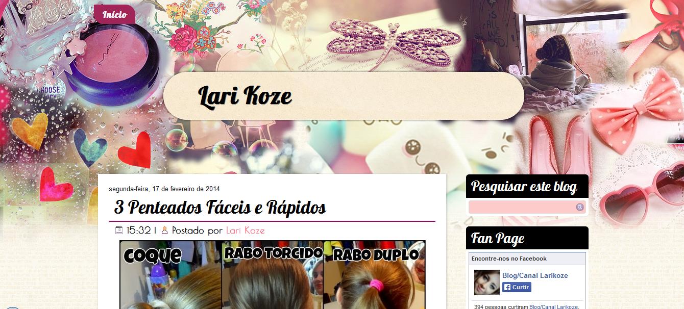 http://larikoze.blogspot.com.br/