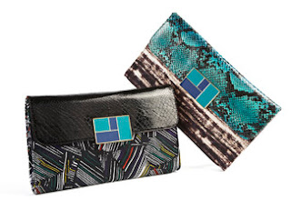 Duro Olowu jcpenney collabo - Leaf print python clutch - iloveankara.blogspot.co.uk