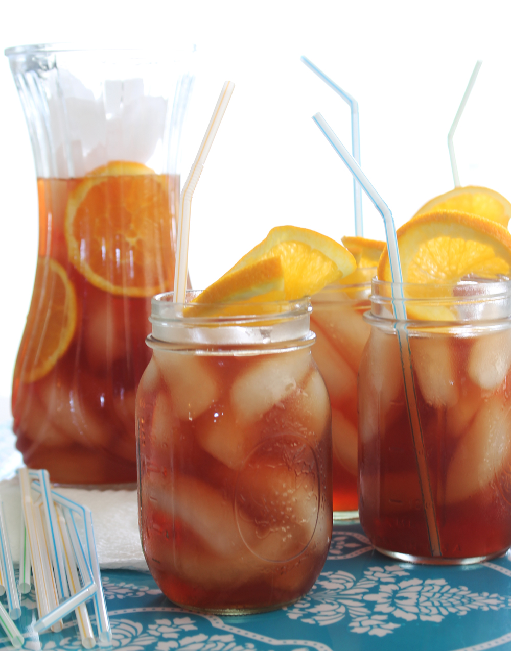 Raspberry Orange Sun Tea - MyThirtySpot