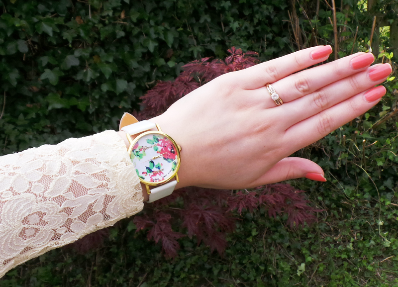 pretty watch, floral watch, cheap watches, ebay watches, fashion, jewellery, fashion blog