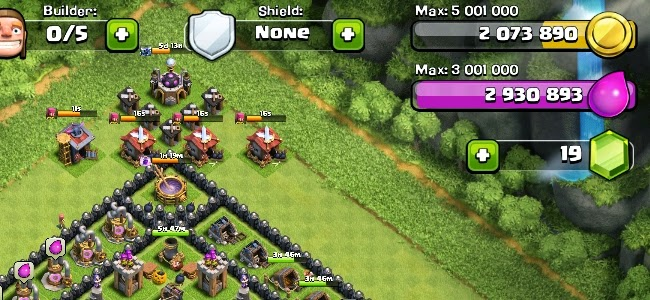 Waterfall Ressurection Clash of Clans