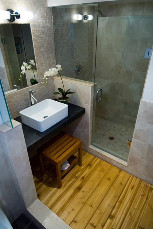 Pabla en casa 35 ba os peque os y funcionales for Aseos modernos pequenos
