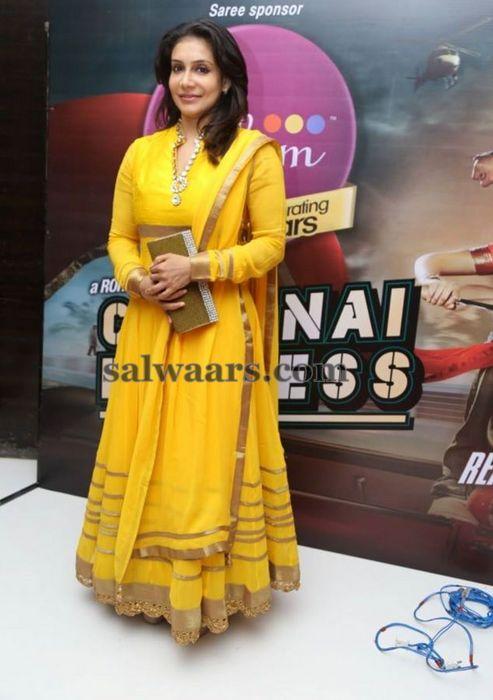 Lizzy Long Salwar in Yellow