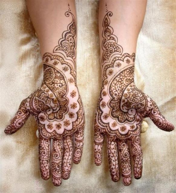 Very Beautiful Bridal Mehndi Designs : Full hand bridal mehndi designs for bride
