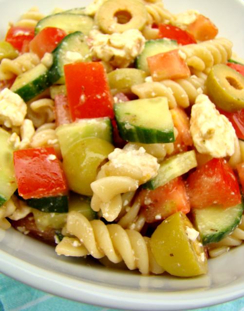 Family Feedbag: Mediterranean pasta salad