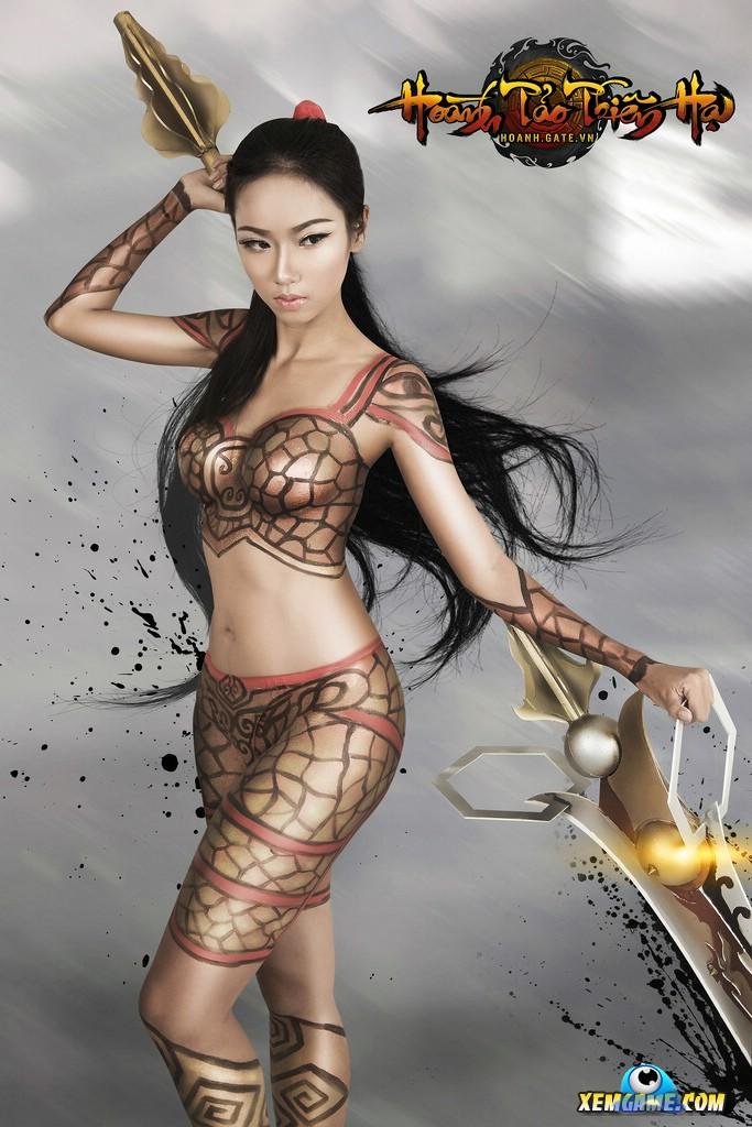 Ảnh gái đẹp sexy với body painting Phần 1 27
