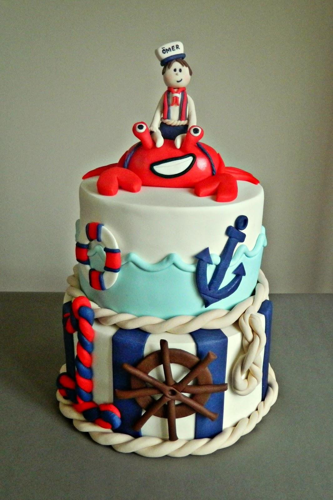 edirne denizci temalı butik pasta