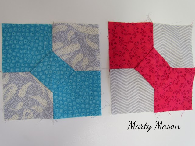 3-Dimensional bowtie quilt block by Marty Mason