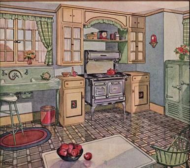 Blog arqteturas cozinha vintage for 1930 s kitchen cabinets