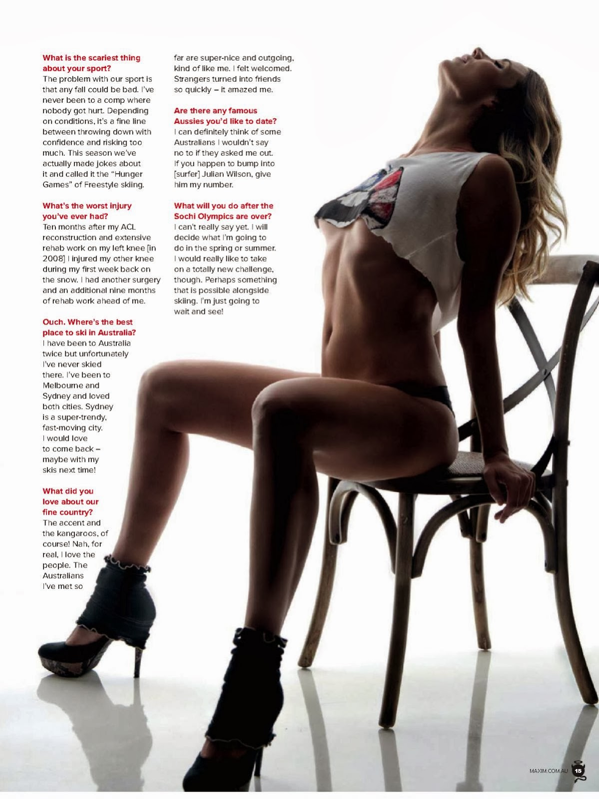 Magazine Cover : Mirjam Jaeger Magazine Photoshoot Pics on Thanassis Krikis Maxim Magazine Australia March 2014 Issue