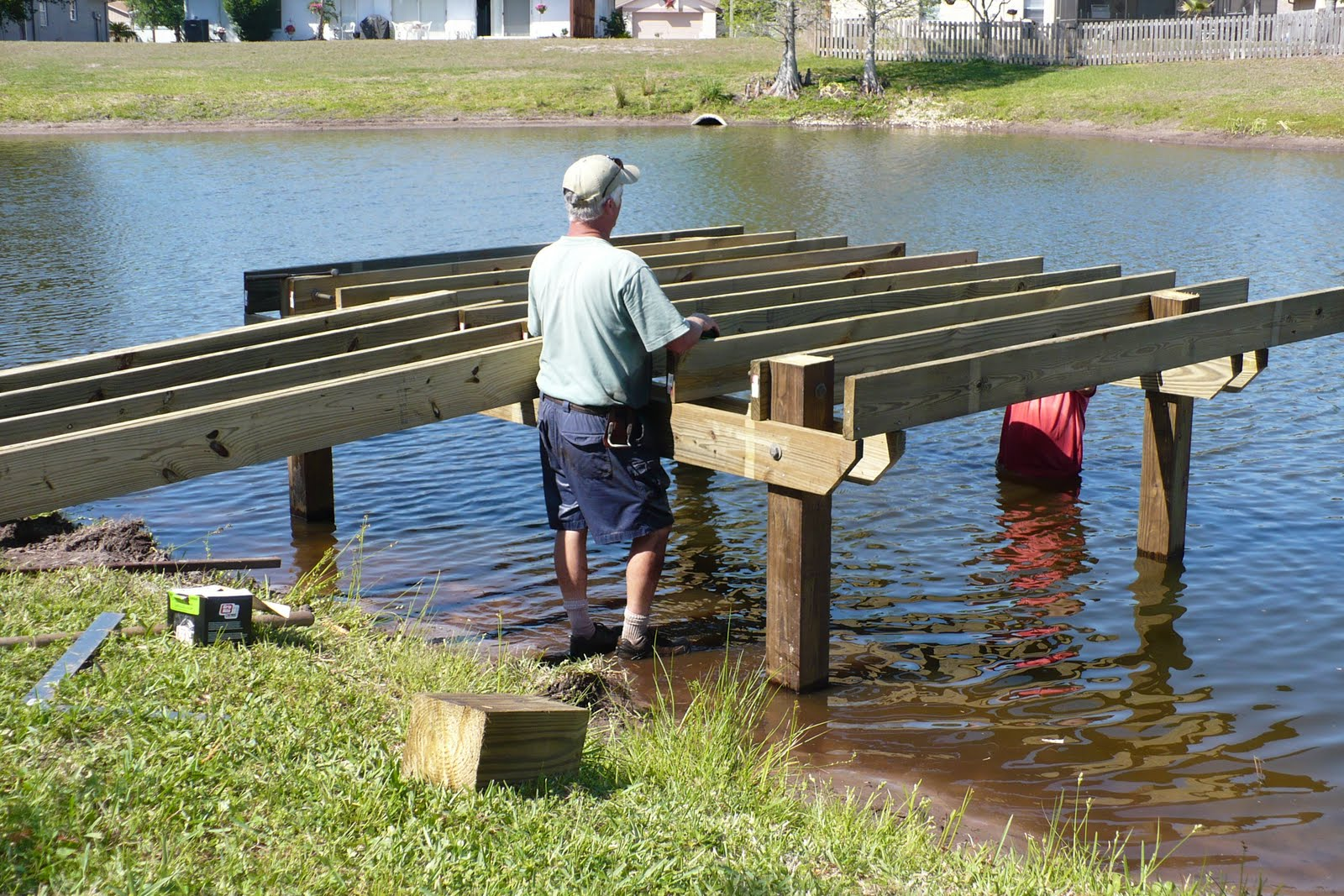Flowers and flour new dock for Pond pier plans