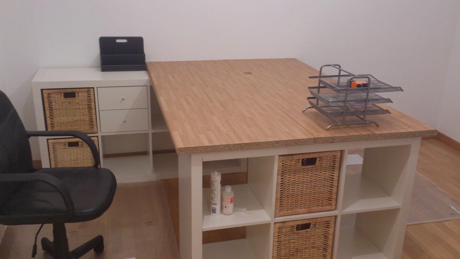 Una mesa de despacho con sitio para todo mi llave allen for Mesa despacho ikea