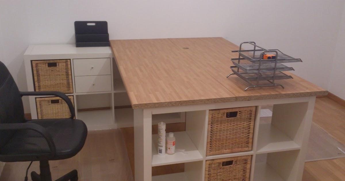 Una mesa de despacho con sitio para todo mi llave allen for Mesa de ninos ikea